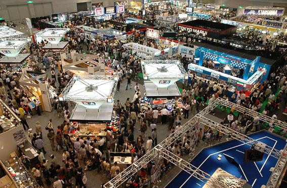 写真は2008年にツインメッセ静岡で開催された静岡ホビーショーの模様。静岡市の一大イベントとして長い歴史を誇る