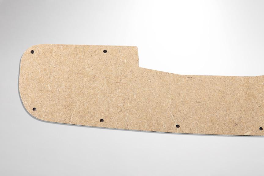 竹繊維とPBSを組み合わせたテールゲートの内装材。竹繊維とプラスチックの混合技術は、同社が世界で初めて実用化したと言う