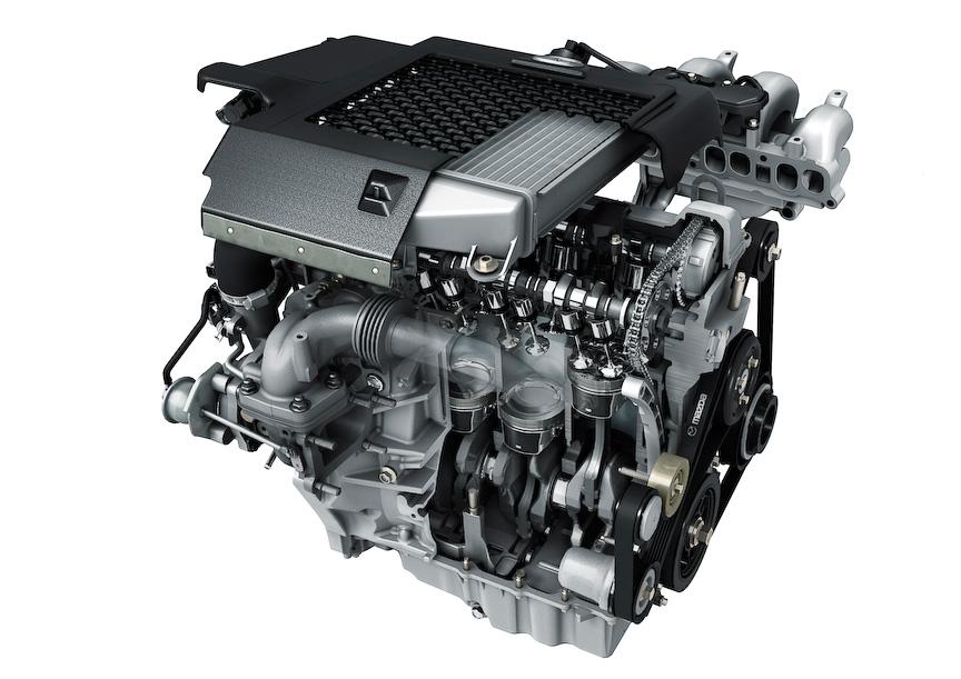 直列4気筒 DOHC 2.3リッター直噴ターボエンジンと性能曲線