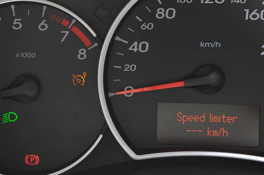 スピードリミッターも設定できる
