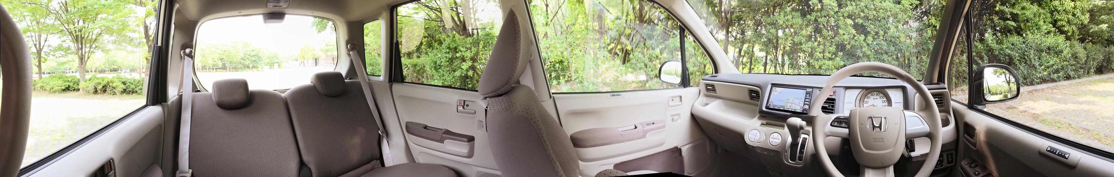 車内のパノラマ写真