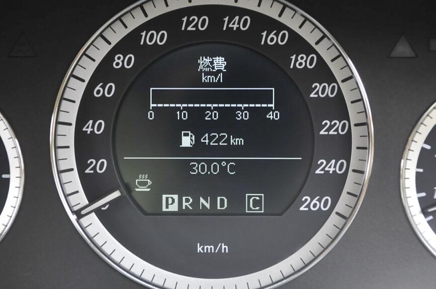燃費や搭載ガソリンでの航続見込み距離も表示