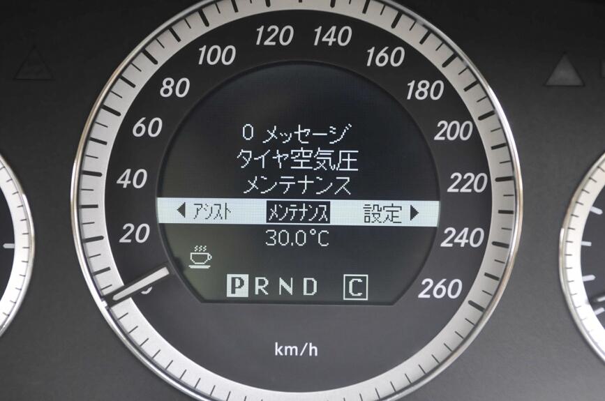 タイヤ空気圧の警告も