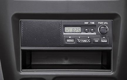 AM/FM ラジオ(デジタル時計付・スピーカー内蔵)