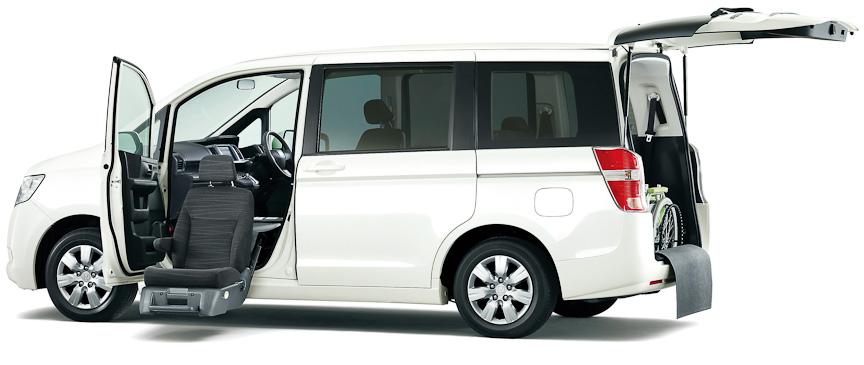 ステップワゴン G(FF)助手席リフトアップシート車(プレミアムホワイト・パール)オプション装着車