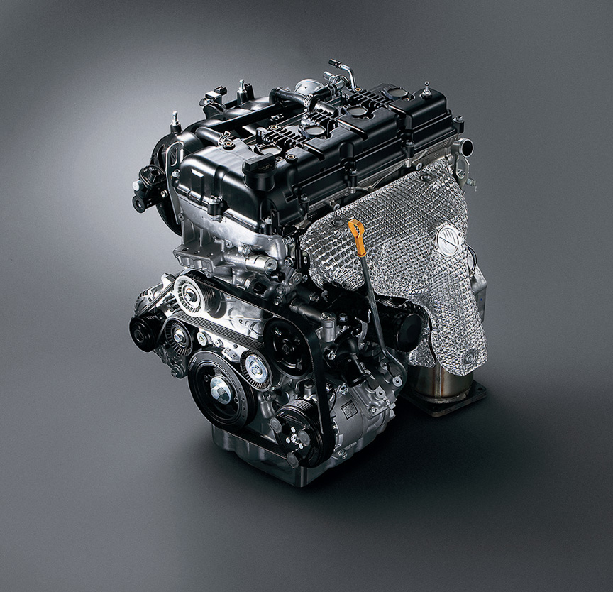 2.4リッターのJ24B型エンジン