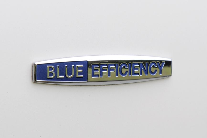 フェンダーにはメルセデスの環境テクノロジーの総称「BLUE EFFICIENCY」ロゴ