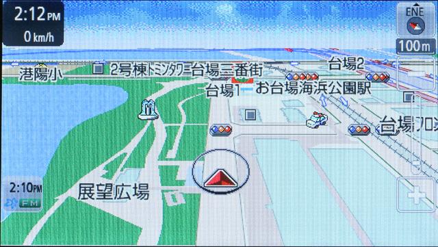 3D表示でも市街地図レベルから広域レベルまで縮尺は自在に変えることが可能。縮尺の切り換えもスムーズだ。写真左から順に1km/100m/25mの各スケール