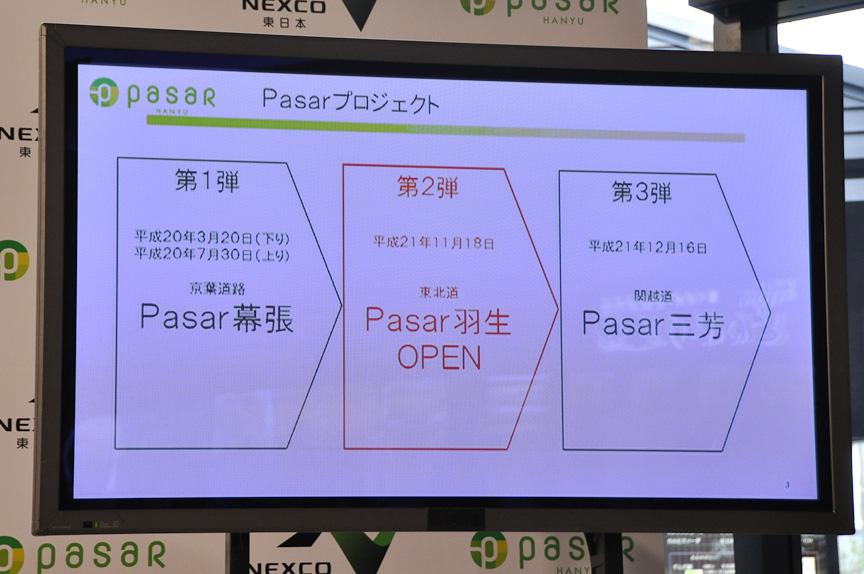 Pasar羽生は、Pasarプロジェクトの第2弾としてオープンする施設。12月には、関越自動車道の三芳PA(上り)にPasar三芳がオープンする