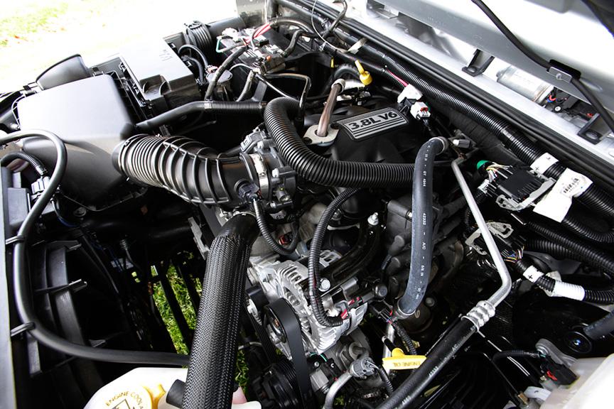 V型6気筒3.8リッターエンジン