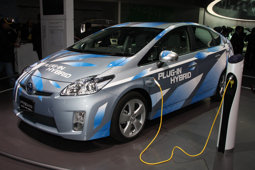 東京モーターショーに出展されたプリウス プラグインハイブリッド