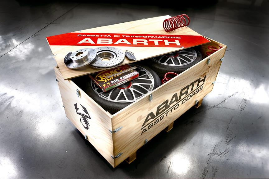 イタリア・トリノのアバルトワークショップからウッドコンテナでデリバリーされるエッセエッセ キット