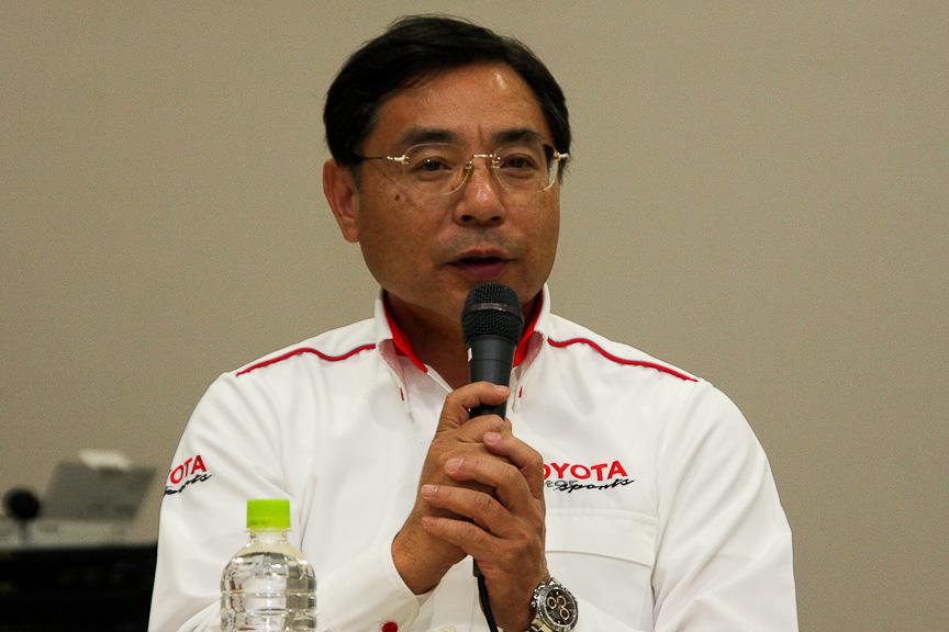 モータースポーツ部長の高橋敬三氏。今後、TDPではF1チームから声がかかるような選手を育てたいと言う