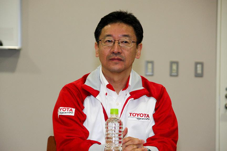 モータースポーツ推進室長の今井智己氏。質問がなかったため特にコメントはなかった
