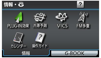 ビジュアルシステム:情報モード機能表示画面