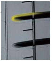 トレッドブロックのエッジ部に採用された「オプティマム・チャンファー」。ブレーキング時の接地面を最適化する