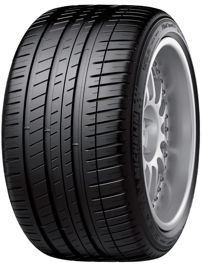 Pilot Sport 3。タイヤ幅285mm以上では6リブパターン