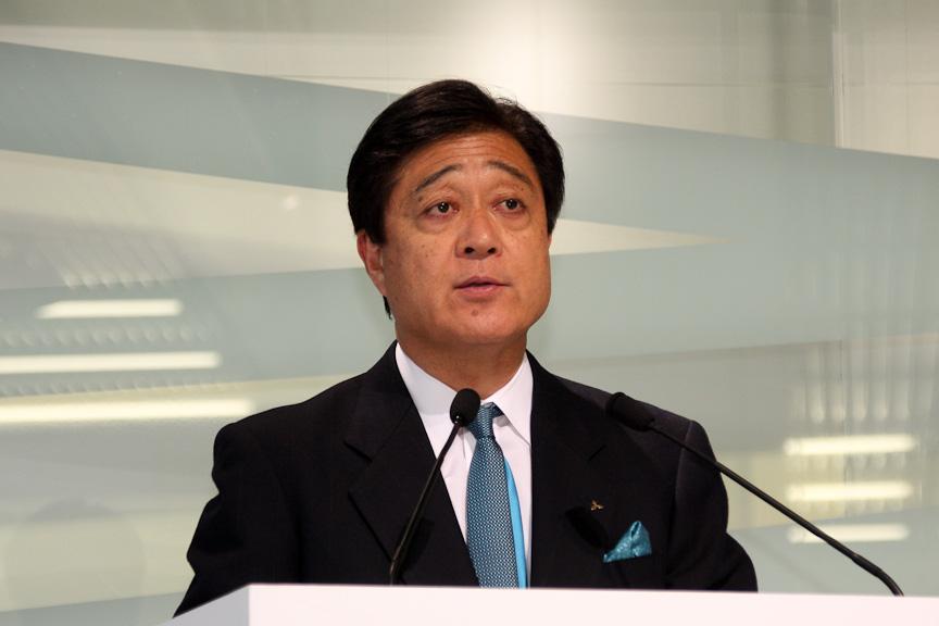 三菱自動車工業 取締役社長 益子修氏