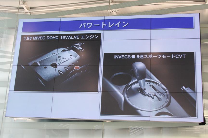 トランスミッションも全グレードともに6速スポーツモード付きのCVT「INVECS-III」を採用した