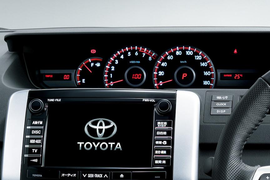 ヴォクシー ZS (内装色:ブラック)オプション装着車のメーターパネル
