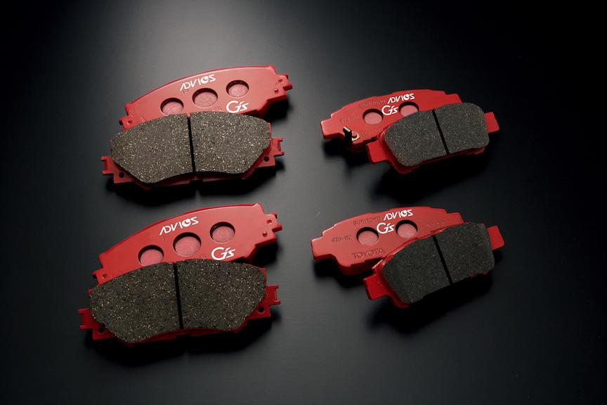 G's専用スポーツブレーキパッド。G'sにオプション、Version EDGEでは標準装備