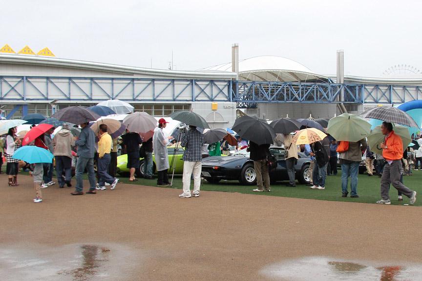 スーパーカーのコーナーは人気が高い