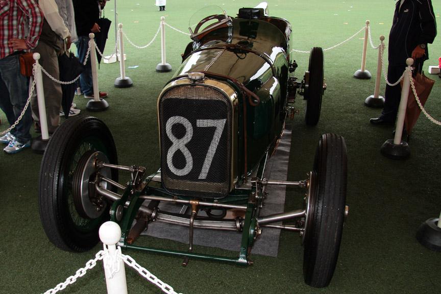 トヨタ博物館所蔵のサンビームグランプリ。1923年のフランスGPでイギリス車として初優勝した。そのエンジン音は他を圧倒していた