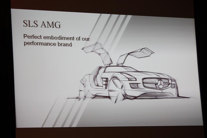 SLS AMGのスケッチ