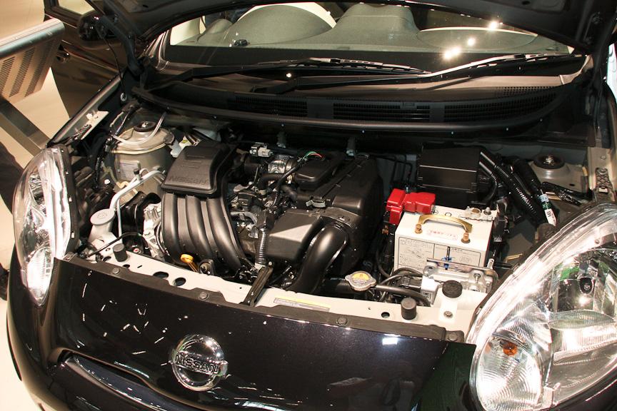 新開発の直列3気筒DOHC 1.2リッター「HR12DE」エンジンは最高出力58kW(79PS)/6000rpm、最大トルク106Nm(10.8kgm)/4400rpmを発生