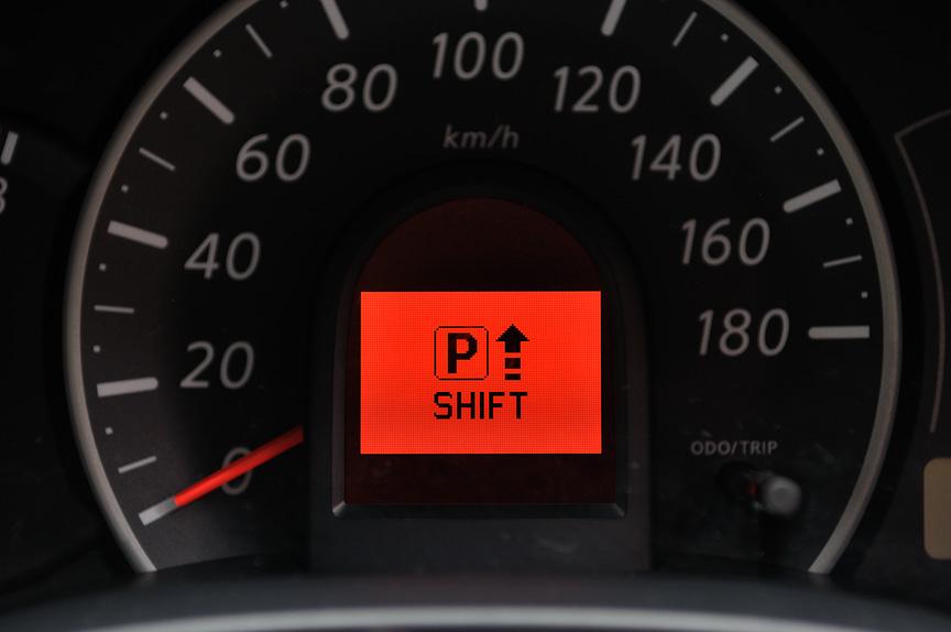 シフトレバーのポジション表示