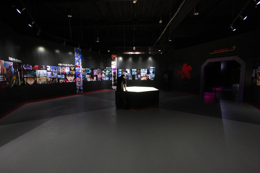 様々な資料や原画があるエヴァ・ミュージアム