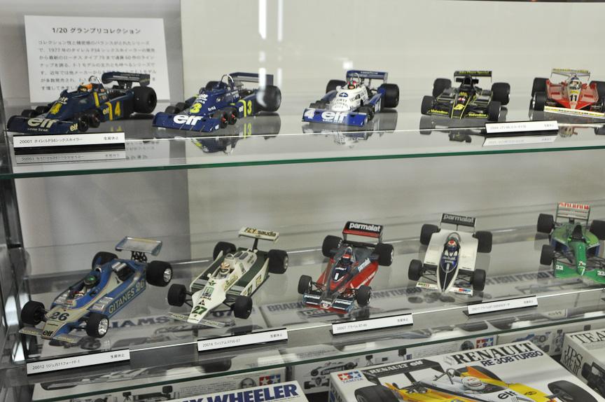 1/20スケールのF1模型。コレクションに手頃なサイズ。数多くの製品が発売されている
