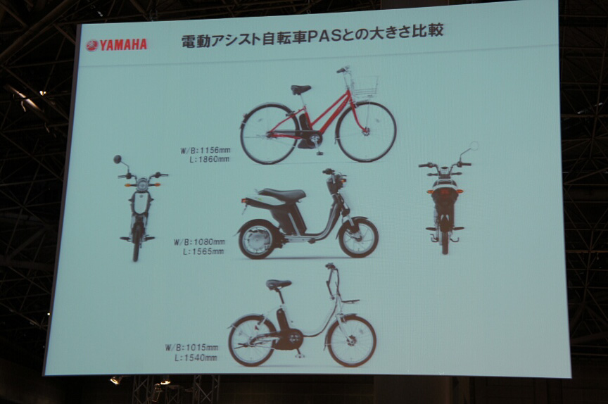 電動アシスト自転車PASとのサイズ比較