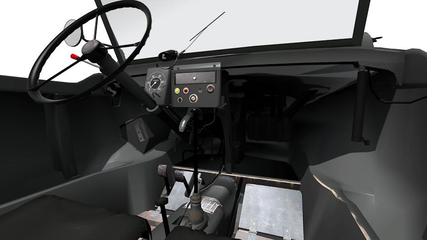 シュビムワーゲン。後部のスクリューユニットが特徴の水陸両用車