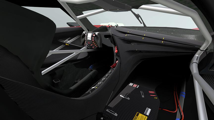 GT by シトロエン レースカー。ロードバージョンでは、パリショーで実車が登場したが、このレーシングバージョンも実車が登場するのだろうか