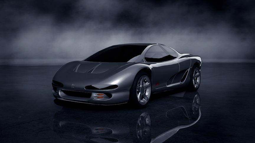 いすゞ 4200R。1989年の東京モーターショー出展の、ミッドシップスポーツコンセプトカー。20年以上前のコンセプトカーとは思えないほど