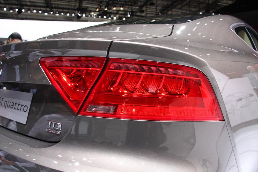 今秋に欧州市場に投入予定のA7スポーツバック。撮影車はディーゼルエンジン仕様のA7 3.0 TDI クワトロ