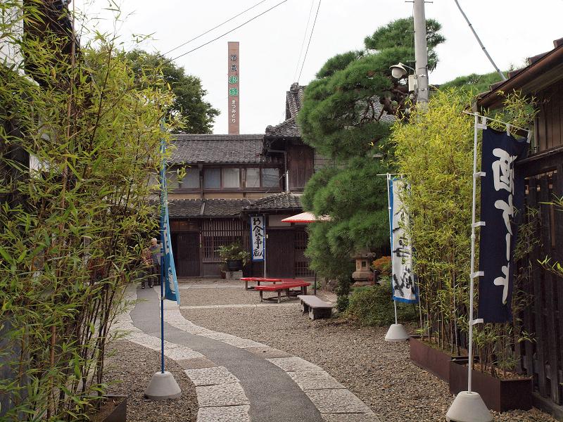 「茶寮 蔵人」は笠間の老舗酒蔵「笹目宗兵衛商店」の敷地内にあります