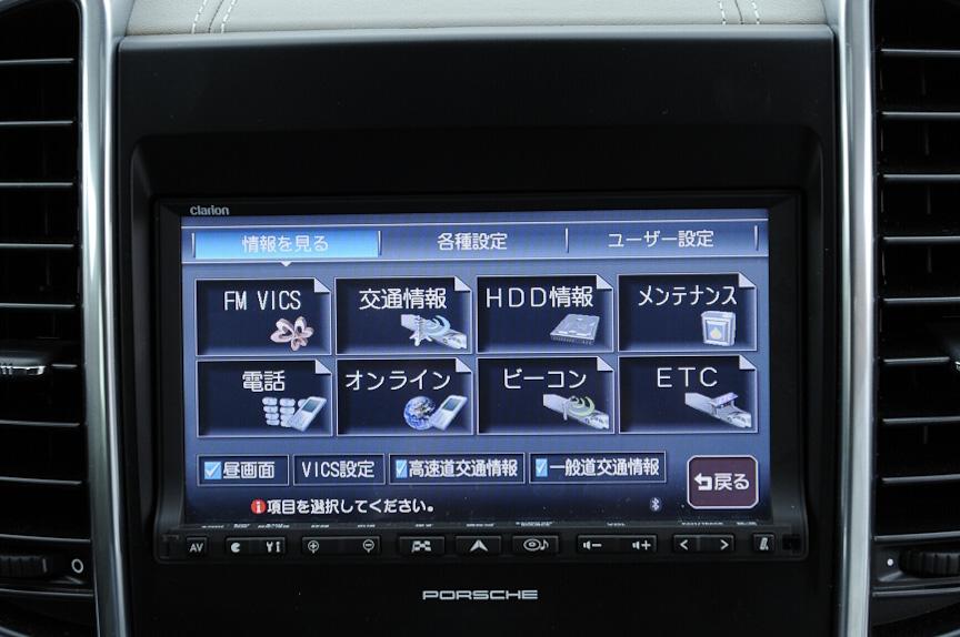カーナビはFM-VICSやビーコンなども装備する