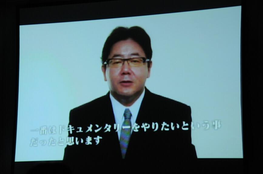 メンバーの登場はなく、秋元氏のビデオメッセージでプレゼン