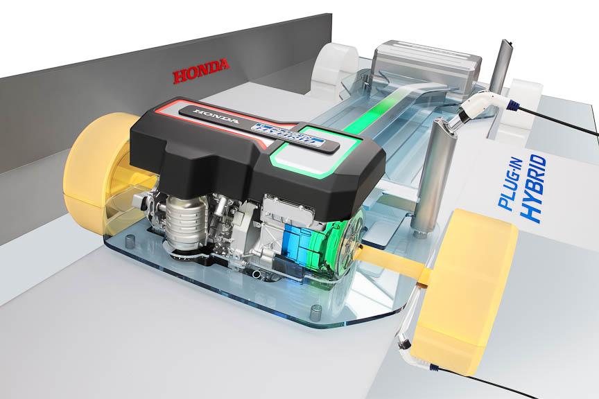 LAショーに展示した次世代PHV技術のモデル
