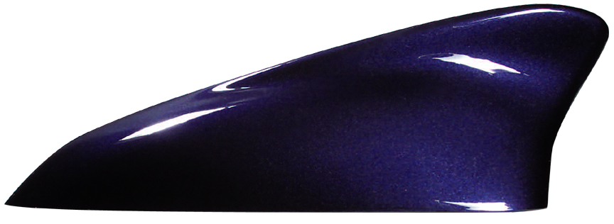 ダークバイオレットマイカメタリックのドルフィンアンテナ