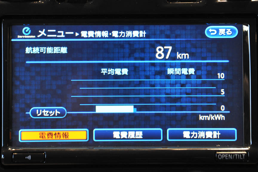 燃費ならぬ電費情報。ユーザー同士で電費を競うアトラクションも検討されている