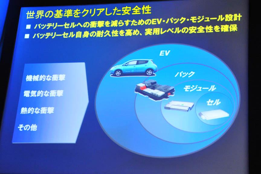 車体と、バッテリーのパック、モジュール、セルの各レベルで安全性を担保する