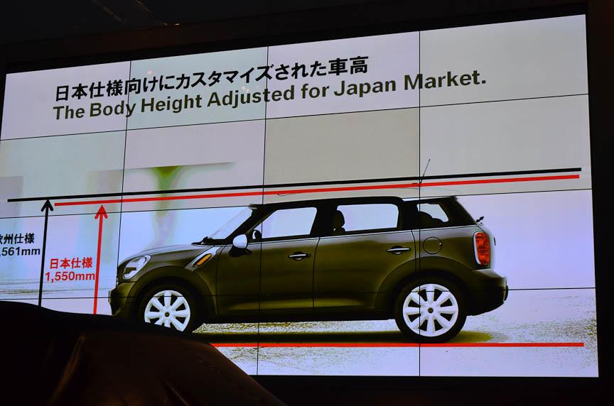 日本仕様は欧州仕様より全高が抑えられている