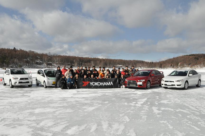 iceGUARD TRIPLE PLUS & PROSPEC Winter Driving Park参加記念写真