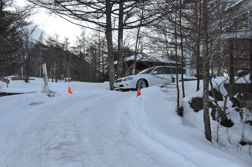 掃除が終わった車両は、氷結湖面へと誘導される。その後、女神湖センターで、イベントの説明を受ける