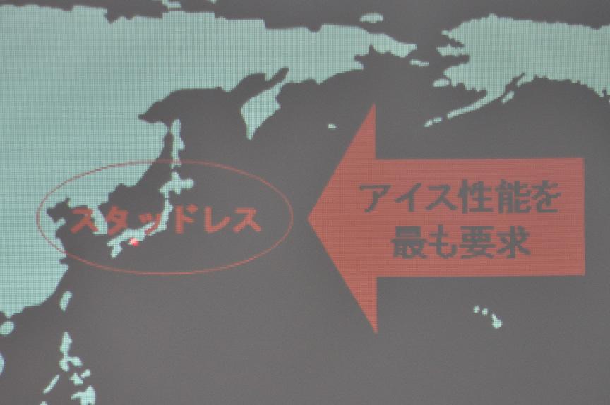 日本のスタッドレスタイヤはアイスバーンでの性能がもっとも要求される