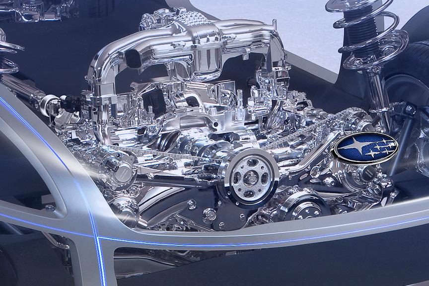 エンジン部のアップ。FB型エンジンとデザインが酷似している