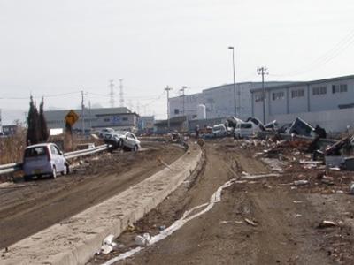 ICの被害、仙台東部道路 仙台港北IC